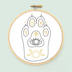 Witchcat Paw PDF Embroidery Pattern