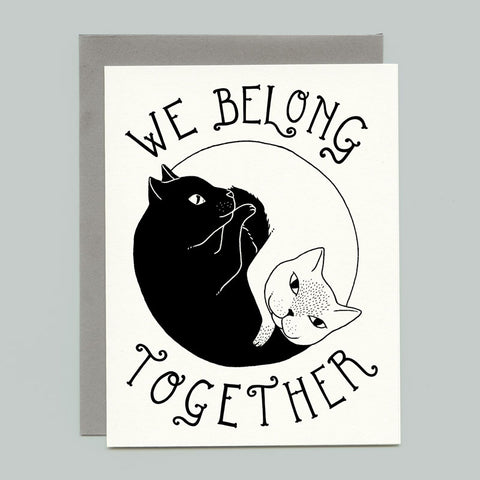Yin Yang Cats Greeting Card
