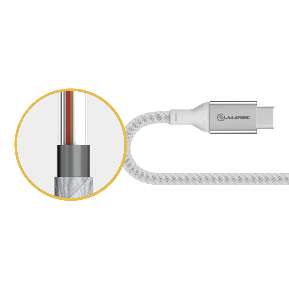Alogic Super Ultra Usb C To Lightning Cable   1.5m   Silver   Moq:3