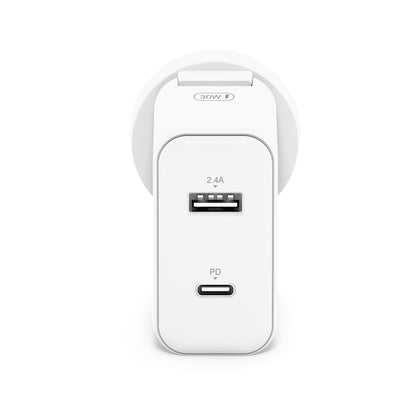 Alogic 2 Port Usb C & Usb A Wall Charger 30 W With Power Delivery   Moq:2