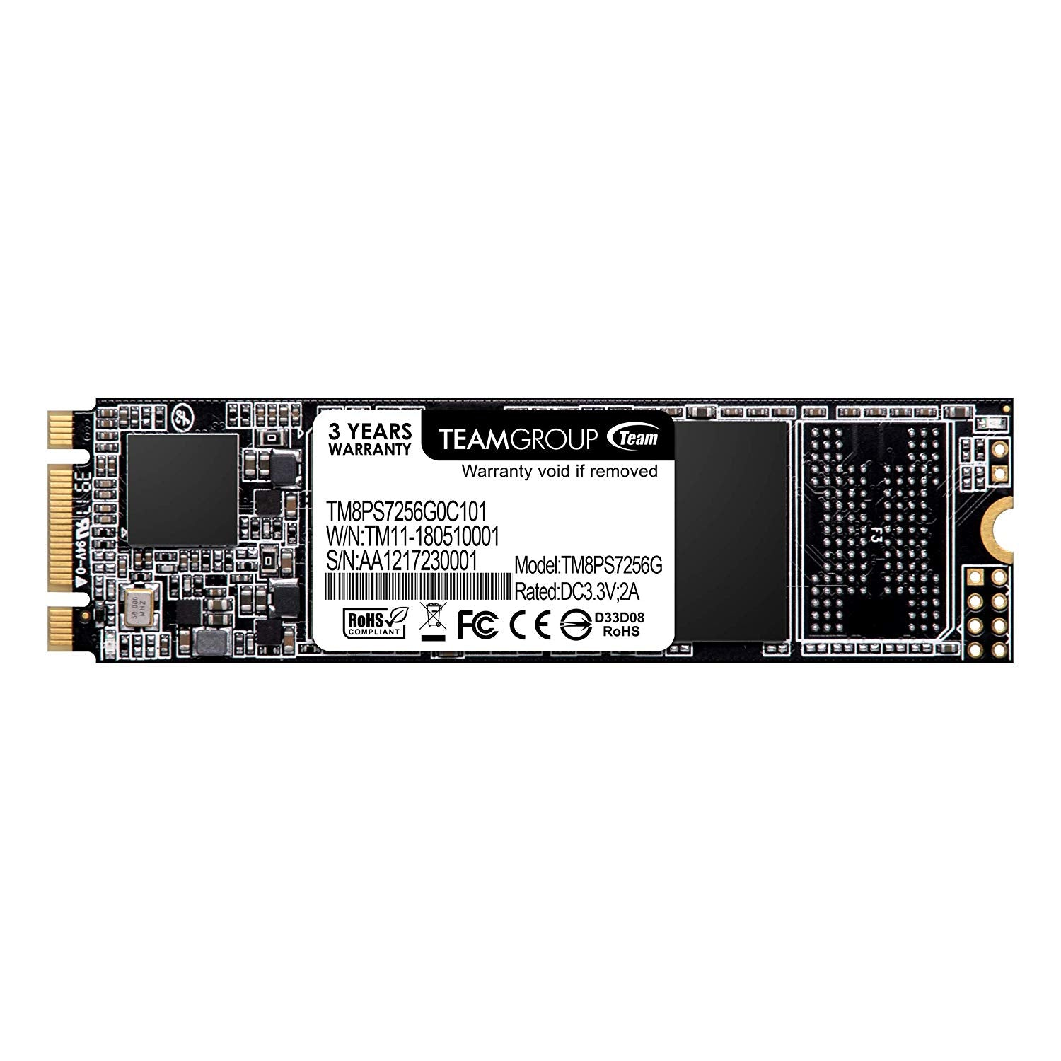 Team Ms30 M.2 Sata Ssd 256 Gb