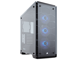 Corsair 570X RGB ATX mid tower case Tempered Glass (included 3x SP120RGB fan)