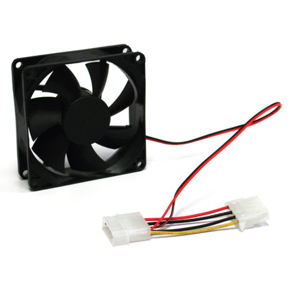 80mm Silent Case Fan - Keeps case and component cool. Molex Connector. Bulk Pack. No Screw included. Molex 4pin (LS)
