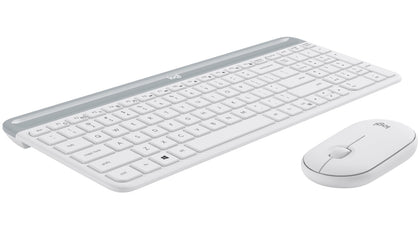 Slim Wireless Keyboard and Mouse Combo MK470 White