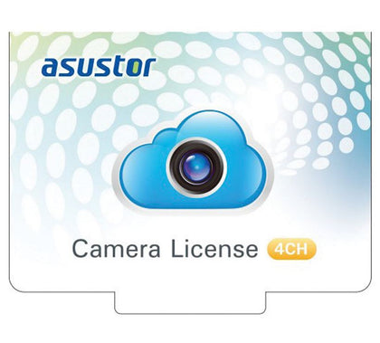 Asustor NVR 4 Channel Camera Licenses for Surveillance Center Digital Version