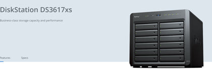 Synology DiskStation DS3617xs 12-Bay 3.5' Diskless 2xGbE/10GbE* NAS (Scalable) (ENT)