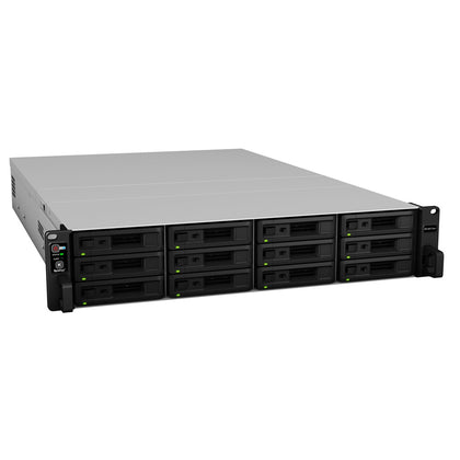 Synology RackStation RS18017xs+ 12-Bay NAS 2U Rack Intel Xeon D-1531 6-Core 2.7GHz 16GB DDR4 4x1GbE 2x10GbE 2xUSB3.0 1xExpansion Port 2xPCIe Hot Swap