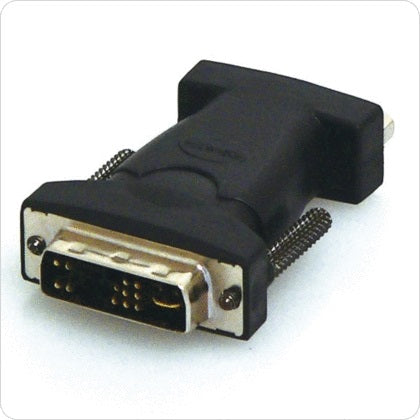 8Ware DVI-M to VGA-F Adapter DVI17M to VGA HD15F Adapter - DVI 17M (ANALOGUE) TO VGA HD15F