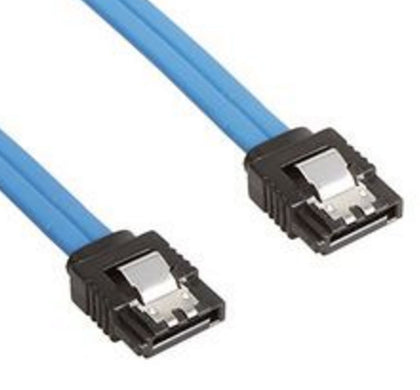 Astrotek SATA 3.0 Data Cable 30cm Male to Male Straight 180 to 180 Degree with Metal Lock 26AWG Blue ~CB8W-FC-5080