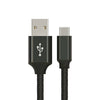 Astrotek 1m USB-C 3.1 Type-C Data Sync Charger Cable Black Strong Braided Heavy Duty Fast Charging for Samsung Galaxy Note 8 S8 Plus LG Google Macbook