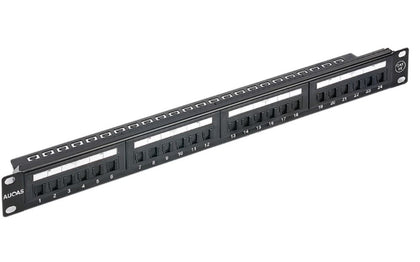 Astrotek 24 Ports UTP Patch Panel CAT6 RJ45 for 19' 1RU Rack Mount Data Network Cabinet Server PCB Type 110/Krone 3U' Black LS