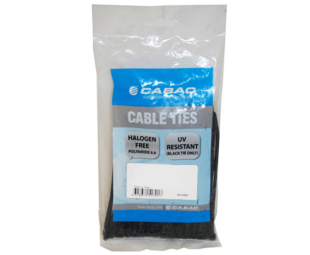 Cabac 200mm 100 Pack, 2.5mm UV Wide Nylon Cable Tie LS