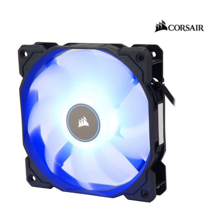 Corsair Air Flow 120mm Fan Low Noise Edition / Blue LED 3 PIN - Hydraulic Bearing, 1.43mm H2O. Superior cooling performance and LED illumination