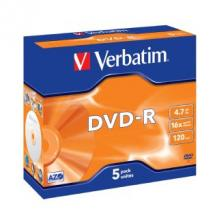 Verbatim DVD-R 4.7GB 5Pk Jewel Case 16x
