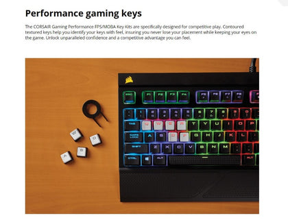 Corsair Gaming Performance FPS/MOBA Key Kit- White