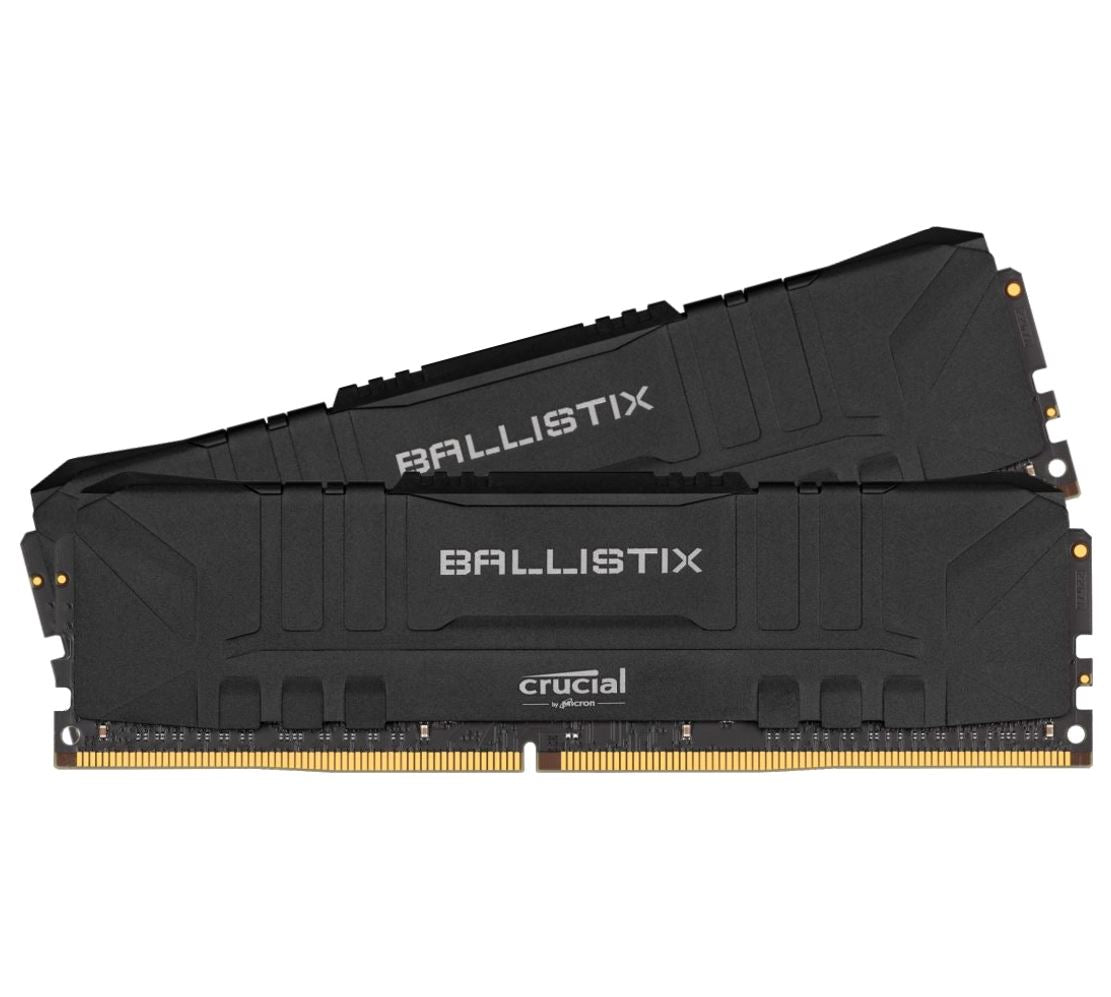 Crucial Ballistix 16GB (2x8GB) DDR4 UDIMM 2400MHz CL16 Black Aluminum Heat Spreader Intel XMP2.0 AMD Ryzen Desktop PC Gaming Memory