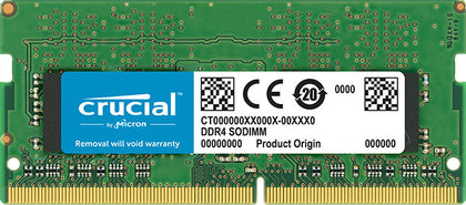 Crucial 4GB (1x4GB) DDR4 SODIMM 2666MHz CL19 Single Stick Notebook Laptop Memory RAM