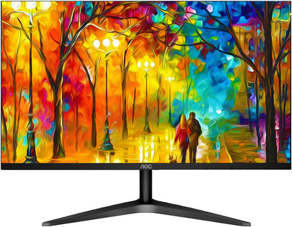 AOC 21.5' IPS 7ms Full HD 3-Way Frameless Slim Monitor - HDMI1.4/VGA, Tilt, VESA 75mm, Low Blue Mode Flicker Free (LS)  MNAO-22B2H