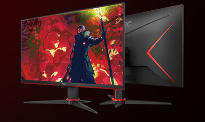AOC 23.6' 1ms IPS 75Hz Full HD Free-Sync, 1x VGA, 2x HDMI 1x DP, Narrow Border, Tilt Gaming Monitor