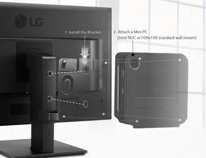LG VESA Mount Bracket - VESA 75x75mm or 100x100mm Intel NUC / Brix / Others only suitable for 24BK550Y and 27BK550Y only