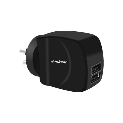 mbeat® Gorilla Power Duo 3.4A Dual USB Ports Smart Charger - Charge 2 Smartphones or Tablets Simultaneously