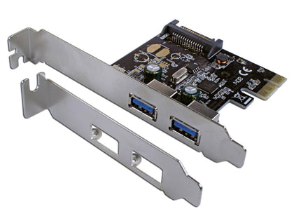 C/Land 2 Port PCIE USB3 Card 2 X EXTERNAL PORTS, LP Bracket