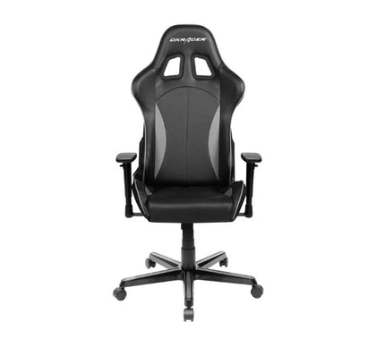 DXRacer Formula FL57 Gaming Chair Black & Carbon Grey - Sparco Style Neck/Lumbar Support/NB Gaming/Office/Ergonomic Desk Chair/Black PU Leather