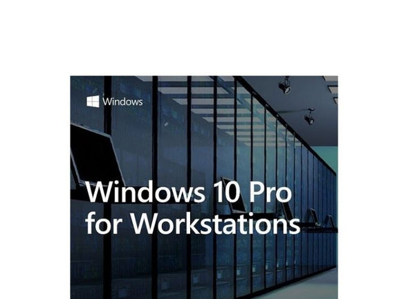Microsoft Windows 10 PRO for Workstation 64BIT only Server Grade Data Protection, Advanced Performance