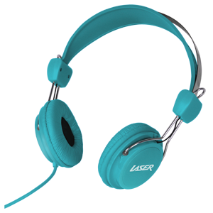 Headphones Stereo Kids Friendly Colourful Blue