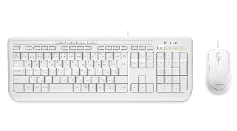 MICROSOFT WIRED DESKTOP 600 USB WHITE - RETAIL