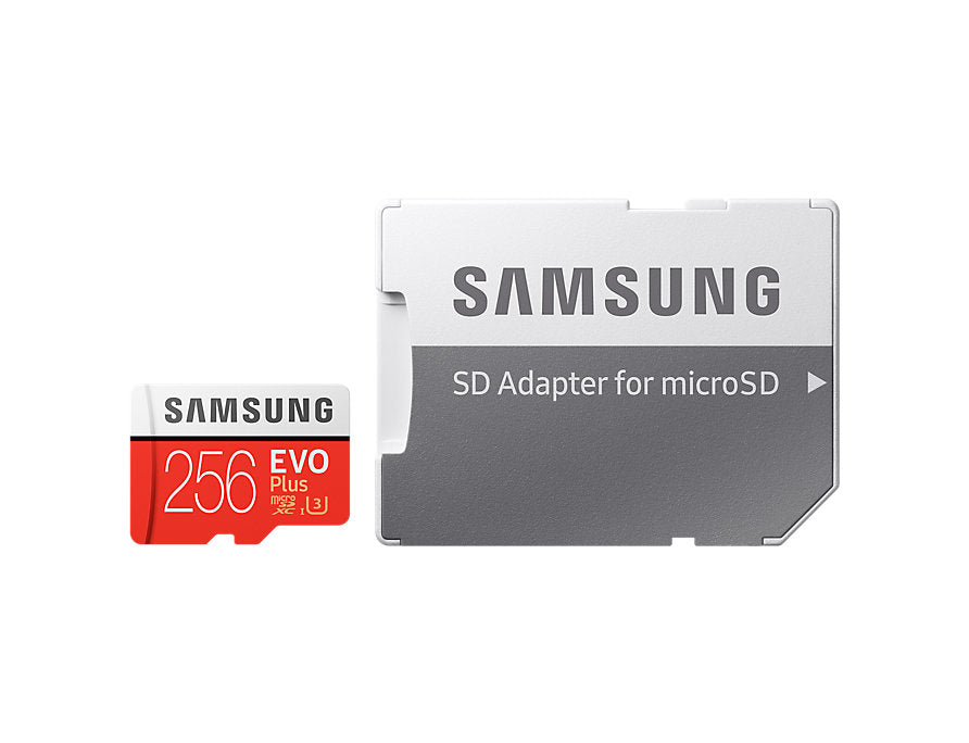 Micro Sdxc 256 Gb Evo Plus /W Adapter Uhs 1 Sdr104, Class 10, Grade 1 (U3), Up To 100 Mb/S Read, 90 Mb/S Write, 10 Years Limited Warranty