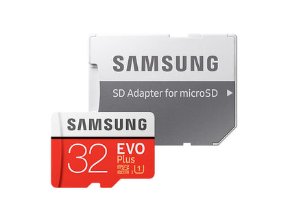Micro Sdhc 32 Gb Evo Plus /W Adapter Uhs 1 Sdr104, Class 10, Grade 1 (U1), Up To 95 Mb/S Read, 20 Mb/S Write, 10 Years Limited Warranty