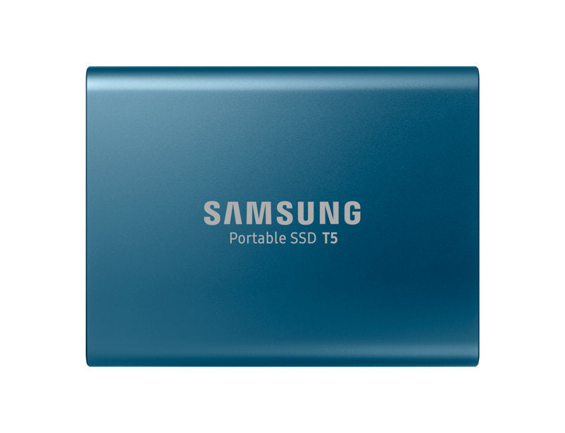 Portable Ssd T5, 500 Gb, Alluring Blue, Usb3.1, Type C, Up To 540 Mb/S, Aluminium Case, Password Security, 3 Years Warranty