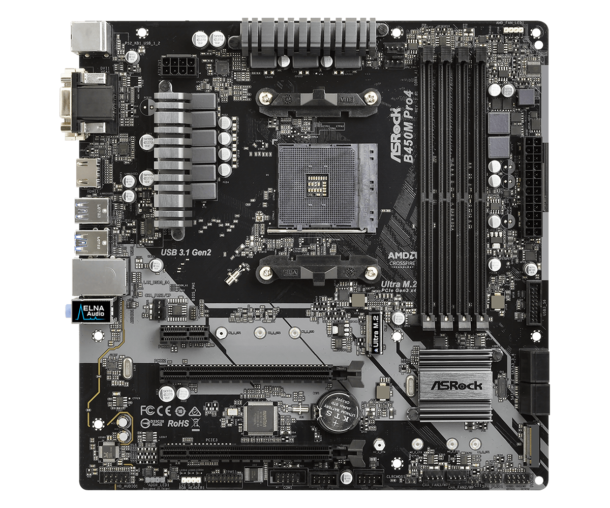 Asrock Motherboard,Cpu:Amd Am4 Socket;Chipset:Amd Promontory B450;Memory:Dual Channel Ddr4 Memory Technology