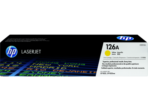 Hp 126 A Yellow Laser Jet Print Cp1025 Cartridge