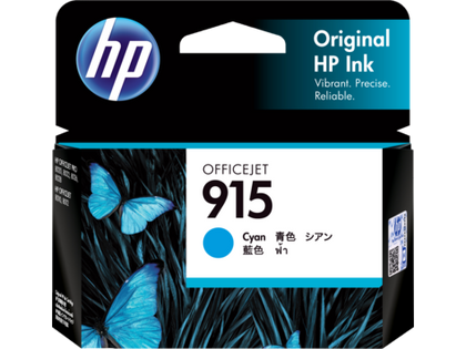 HP 915 Cyan Original Ink Cartridge