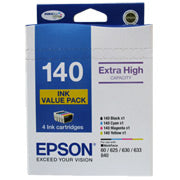 EPSON 4 HIGH CAPACITY T140 INK VALUE PACK (4 COLOURS)