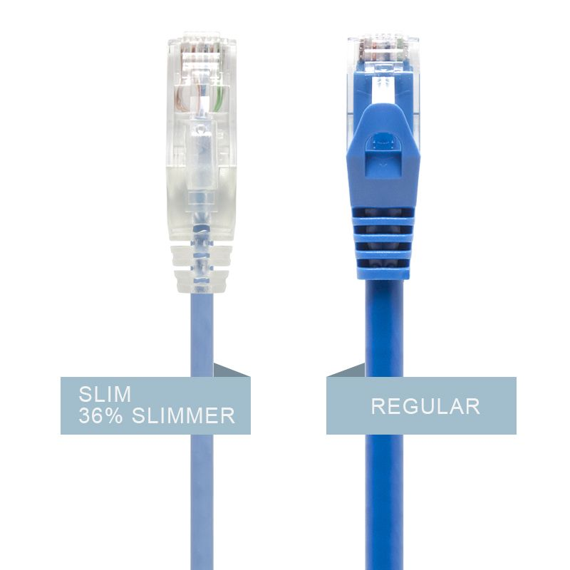 Alogic 2m Blue Ultra Slim Cat6 Network Cable, Utp, 28 Awg   Series Alpha   Moq:7