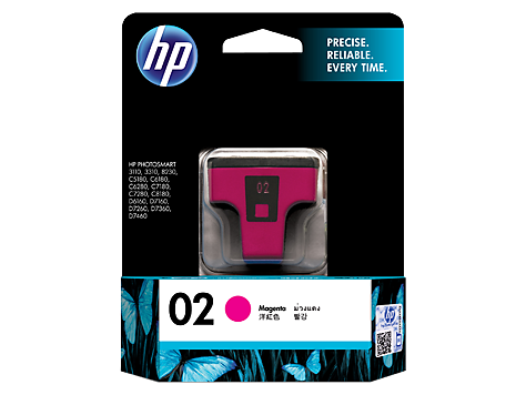 Hp 02 Ap Magenta Ink Cartridge