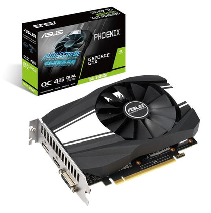 ASUS NVIDIA Phoenix GeForce GTX 1650 SUPER OC Edition 4GB GDDR6 rocks high refresh rates for an FPS advantage without breaking a sweat