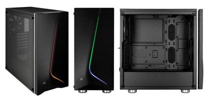 Corsair Carbide Series Spec 06 Tempered Glass Rgb Mid Tower Atx Case, Black