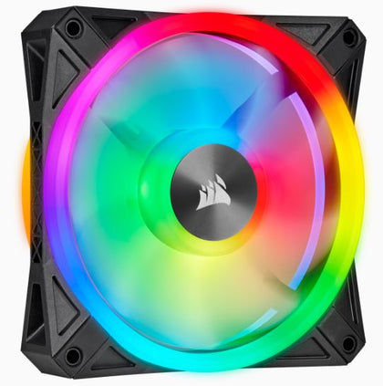 CORSAIR QL Series, QL120 RGB, 120mm RGB LED Fan, Single Pack