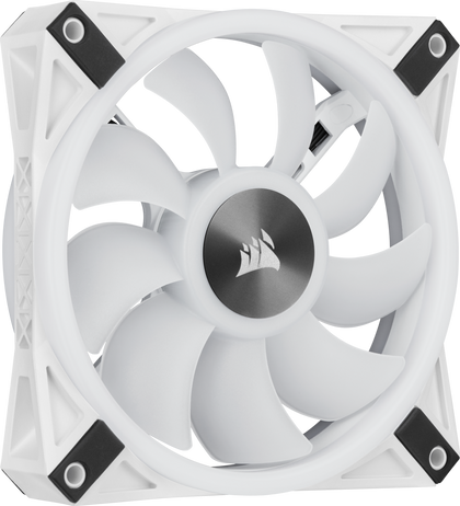 WHITE QL120 RGB, 120mm RGB LED Fan, Single Pack