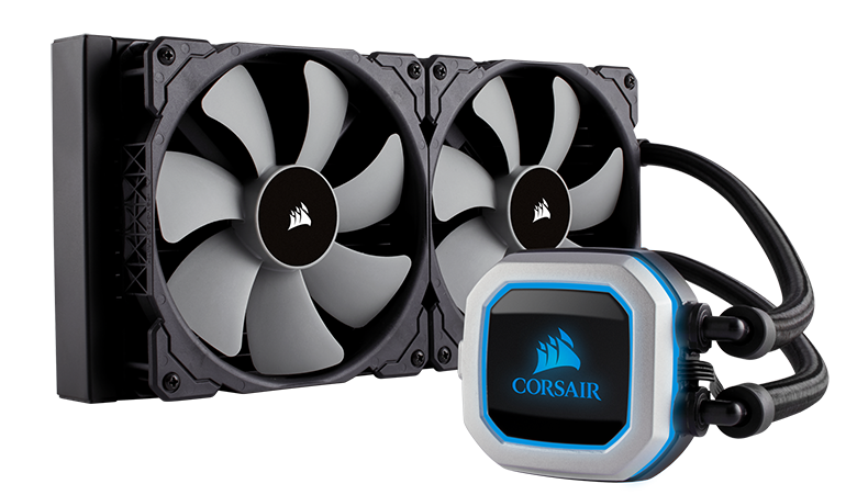 Corsair Hydro Series, H115i PRO RGB, 280mm Radiator, Dual 140mm ML Series PWM Fans, RGB Lighting and Fan Control with Software, Liquid CPU Cooler