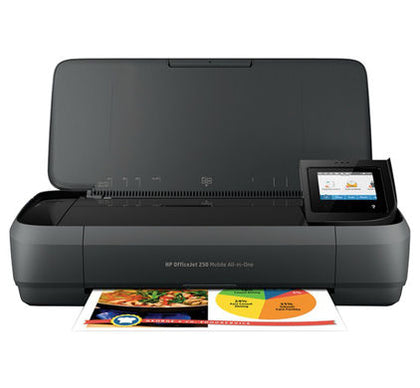 OfficeJet 250 Mobile All-in-One Printer,Wireless, Print, Copy and Scan,700MHZ, 256MB,USB,3.06 kg with Battery