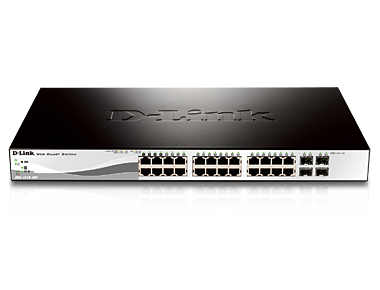 24 Port 10/100/1000 Mbps + 4 Port Sfp Websmart Switch + Poe