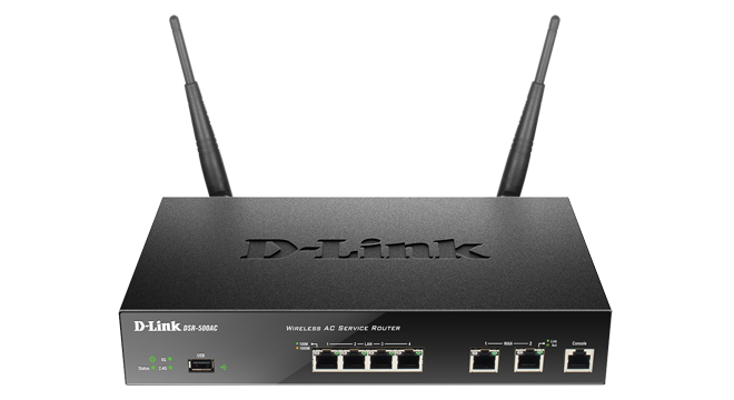 Unified Wireless Ac Services Router With 4 Lan And 2 Wan Gigabit Interfaces (1 Usb 2.0 Port)