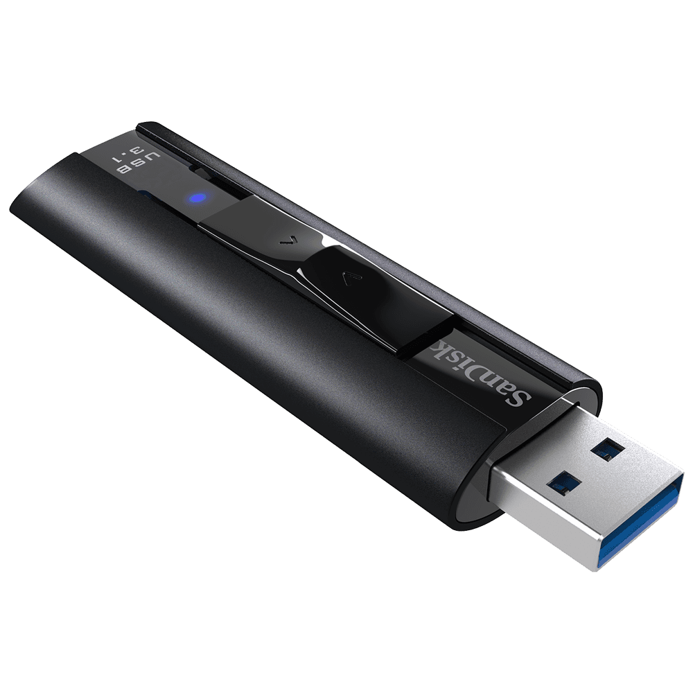 San Disk Extreme Pro Usb 3.1 Solid State Flash Drive, Cz880 256 Gb, Usb3.0, Black, Sophisticated Durable Aluminum Metal Casing, Lifetime Limited