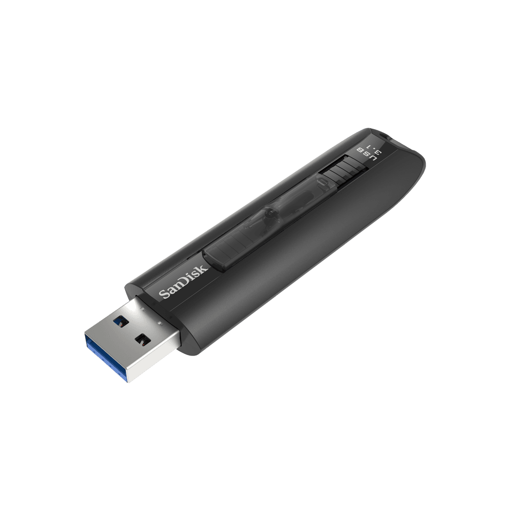 SanDisk Extreme GO USB 3.1 Flash Drive, CZ800 64GB, USB3.1, Black, Retractable, Lifetime Limited