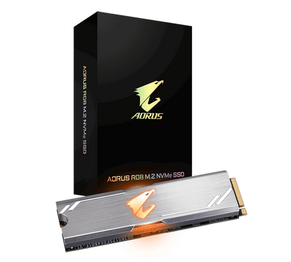 Aorus Rgb, Tlc Ssd, M.2(2280), Nv Me, Pcie 3x4, 512 Gb,Read:3480 Mb/S(360k Io Ps),Write:2000 Mb/S(440k Io Ps),512 Mb Ddr4 Cache,5.5 W,5 Years Limited Warranty